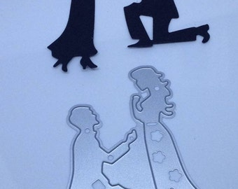 Engagement marry me  die cut metal die cutter stencil scrap booking card making paper wedding