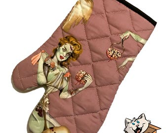 Zombie Pinup Oven Mitt