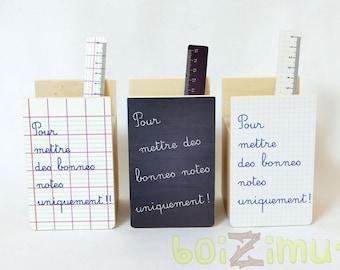 Pot à crayons thème école ''Pour mettre des bonnes notes uniquement!!'' - cadeau maîtresse, maître, professeur