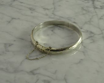 Sterling Silver Hinged Bangle (Small)