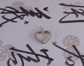 Diamond Heart Pendant in 14 KT