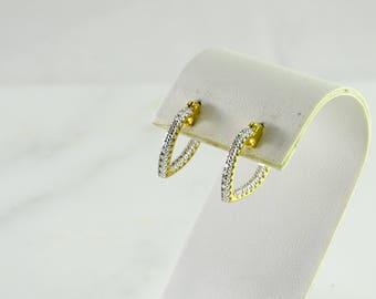 Illusion  Sterling Pierced Earrings