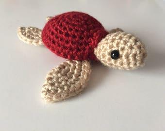 Crochet Sea Turtle, Sea Turtle Plush, Amigurumi Sea Turtle, Amigurumi Turtle, Crochet Turtle, Turtle Plush, Handmade Stuffed Animal,