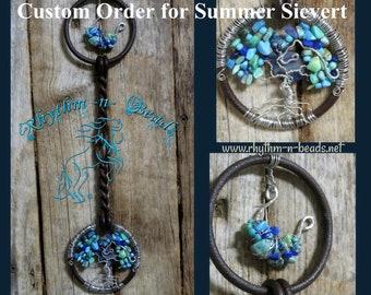 "CUSTOM ORDER for Summer Sievert,  Decorated Vintage Horse Bit, ""TOL Spirit Pony "", Tree of Life, Vintage Horse Bit, equine art, Tree of Life"