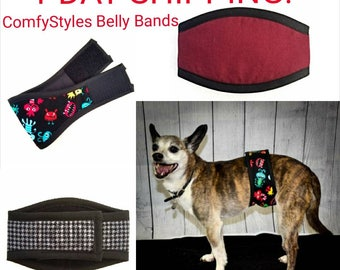 1 DAY SHIPPING BELLYBAND / Your Choice Belly Band /Stock Updates Frequently/ Dog Diaper /Dog Potty Training Aid / Incontinence Wrap Male Dog