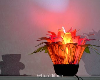 Red Anemone Lamp Cherry / Free Shipping