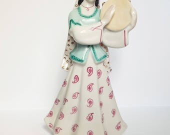 Woman figurine / Dancer figurine / Porcelain figurine / Dancing woman figurine / Soviet porcelain (Ukraine)