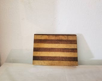 Vintage Butcher Block Cutting Board, Small cutting board, Chopping block, vintage kitchen, Stripe cutting board, old cutting board,