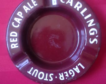 Carling's Red Cap Ale Lager Stout ashtray