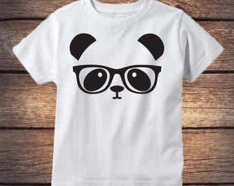 Panda Bear Shirt - Unisex Hipster kids clothes - Sibling Shirt - Kids Panda Bear - Little Sister Shirt - Little Brother Shirt  -  Trendy Kid