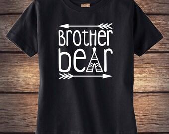 Brother Bear Shirt - Sibling Shirt - Baby Bear - Momma Bear - Little Sister Shirt - Little Brother Shirt -  Boho Baby Clothing - Bear Shirt