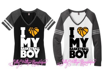 I love my basketball boy shirt, Basketball mom shirt, Basketball heart shirt, Basketball shirt, Basketball mom top, Basketball
