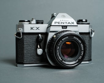 Asahi Pentax KX k1000 35mm SLR Camera w/ 50mm f/1.7 Lens Film Tested Working!!