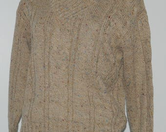 Vintage beige heathered sweater Itinéraires de Cacharel Size 38-40 FR