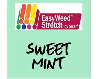 Siser EasyWeed Stretch Heat Transfer Vinyl - HTV - Sweet Mint