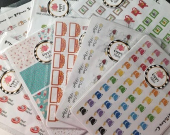 Oops! 10 Sheets of Imperfect or Discontinued Planner Stickers.