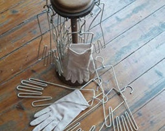 Vintage Glove Hangers With Stand