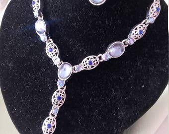 Avon Silver necklace with matching earings