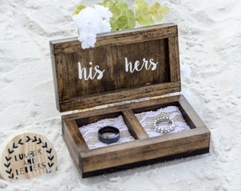 wedding ring box rustic wedding ring box wood ring box ring bearer box - Wedding Ring Box