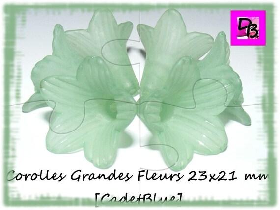Corolle de fleur 21x23 mm [CadetBlue]