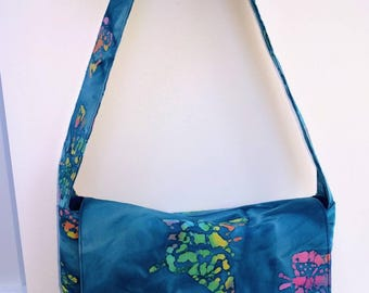 Small messenger bag - butterfly rainbow messenger bag - summer messenger bag - mini shoulder bag - kids shoulder bag - toddler messenger bag