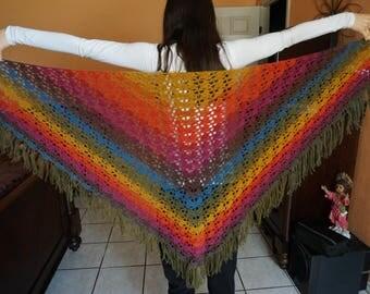 Colorful Crochet Scarf/Shawl