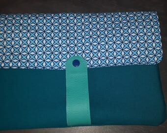 Cover of Tablet IPAD 27 / 17cm all fabric fully lined blue