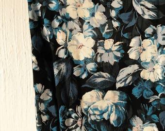 Blue Flora Apron Dress
