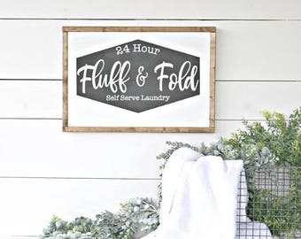 Fluff & Fold Laundry Sign SVG