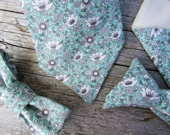 New Father Gift from Son - Gift New Brother - Dad and Son Ties - Dad Son Tie Set - Boys Floral Ties - Dad and Son Matching Ties - Sage Tie