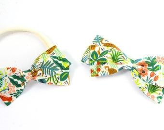 Zoo Hair Bow - Headbands for Girls - Clip, Barrettes, or Nylon Headband