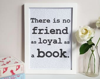 Ernest Hemingway Book Quote - Bookish Gift - Bookworm Print - Reading Nook Decor - Literary Wall Art - Book Lover Poster - Library Decor
