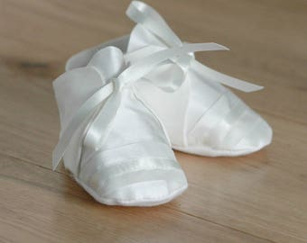 George Christening booties by Adore Baby/Boys booties/Christening booties/baptism booties/blessing booties/Christening shoes/baptism shoes