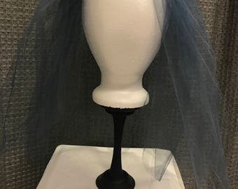 Blue wedding veil