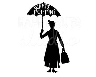 Mary Poppins What's Poppin? Matching Mother Daughter Family Vacation Girl's Disney World Disney Iron On Vinyl Decal for T Shirt 318