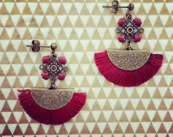 Antique earrings with tassels