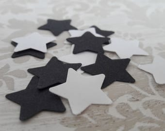 Black and White Stars Table Confetti Bridal Shower Baby Shower Wedding Childrens Party Favors Table Decoration Confetti