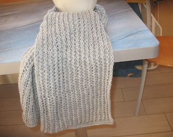 LACY scarf gray dot