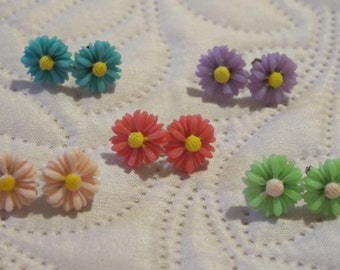 daisy earrings 5 color options