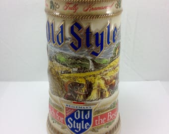 1988 Old Style Handcrafted Beer Mug By Gerz