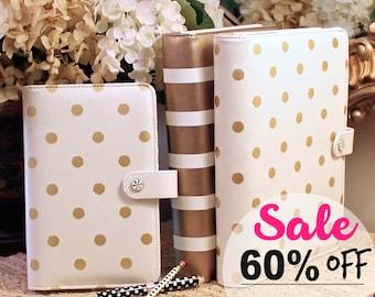 SALE 60% OFF Planner Binder, A5 Binder, Personal Size Binder, Ring Binder, Binder Cover, Clearance Sale, Sell Items, Binder Cover Spine