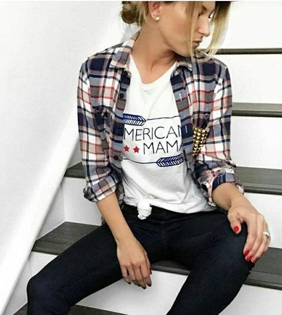 AMERICAN MAMA Tee, USA Tshirt, Americna Mama Tshirts