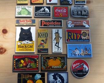 21 Vintage Ande Rooney Porcelain Refrigerator Magnets with a Bonus Biltmore, NC Magnet