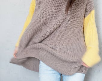 Plus size sweater oversized sweater Dress pregnancy clothes maternity sweater cozy sweater loose sweater chunky sweater for women jumper