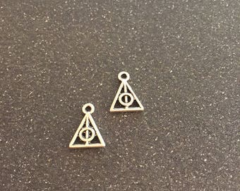 Harry Potter deathly hallows double sided charm, set of 2