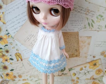 blythe dress for pullip Neo blythe licca dal shibajuku hand made clothes 1/6 scale doll clothing vintage style