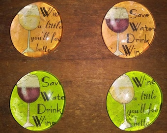 Wine Magnets - Wine Lover Magnets -Birthday Gift