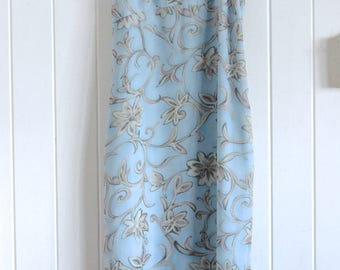 90's, floral, light blue, sleeveless, long, maxi dress