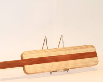 Cherry and Ash Serving Board with Handle | Cherry and ash charcuterie board | Bread cutting board | Cheese serving board | Housewarming gift