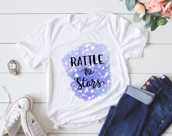Throne of Glass Sarah J Maas Book Quote 'Rattle the Stars' Hand Lettering Women's T-shirt